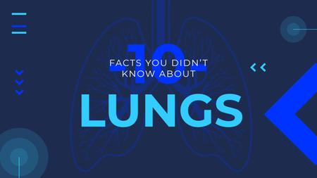 Medical Facts Lungs Illustration in Blue Youtube Thumbnail Modelo de Design