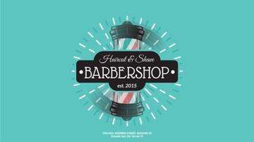Barbershop Striped Lamp
