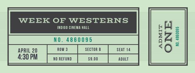 Film Festival of Westerns Ticket – шаблон для дизайна