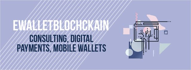 Blockchain concept with browser page Facebook Video coverデザインテンプレート