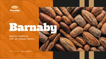Bakery Ad Fresh Bread Loaves | Presentation Template