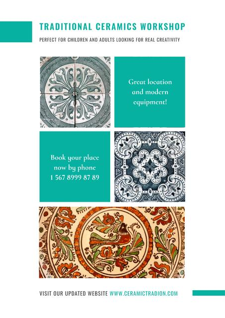 Traditional ceramics workshop Poster Design Template