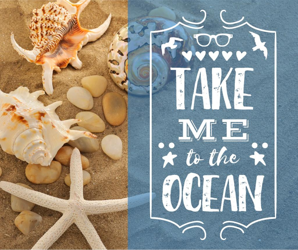 Travel inspiration with Shells on Sand — Modelo de projeto