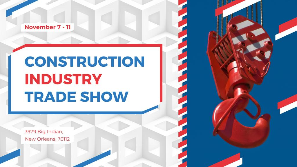 Building industry event with Crane at Construction Site —デザインを作成する