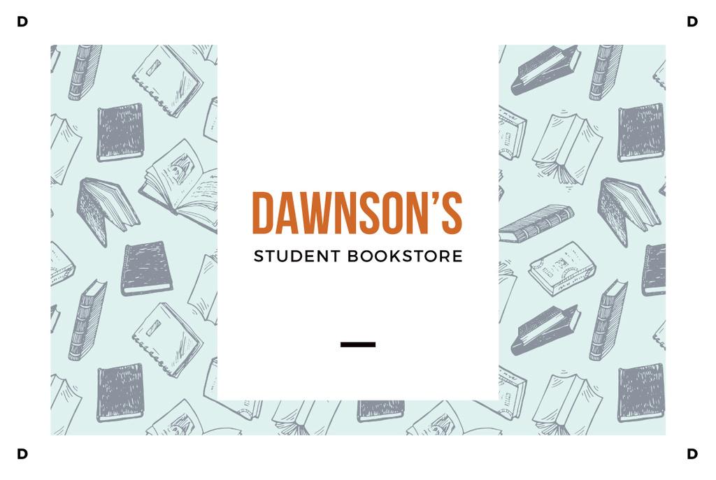 Dawnson's student bookstore illustration — Créer un visuel