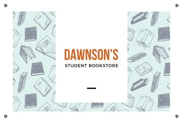 Student Bookstore with Books illustration
