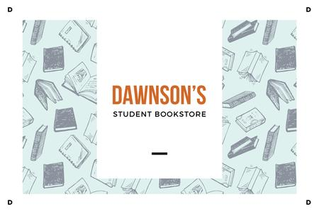 Student Bookstore with Books illustration Gift Certificate Modelo de Design