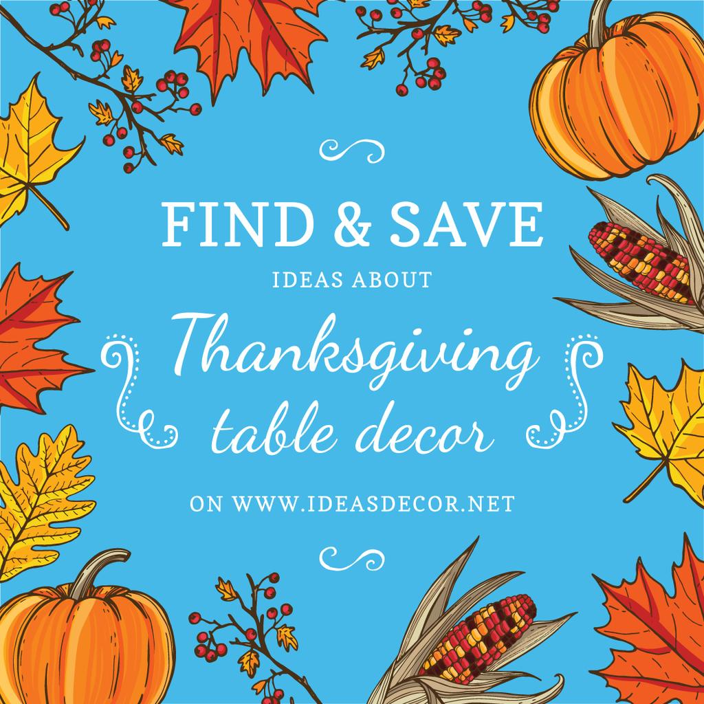Ideas about thanksgiving table decor poster for website — Create a Design