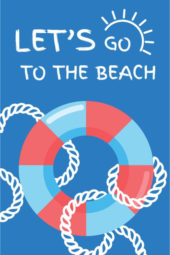 Summer Trip Offer Floating Ring in Blue — Créer un visuel