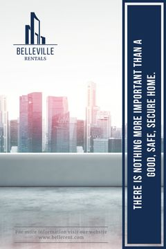 Real Estate Advertisement Modern City Skyscrapers | Tumblr Graphics Template
