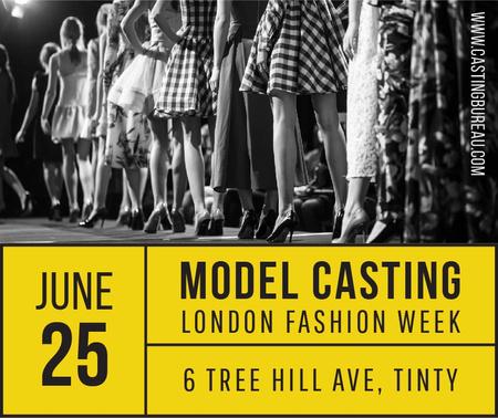 Modèle de visuel Model Casting announcement with Girls in line - Facebook