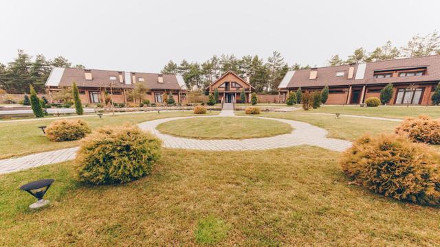 Plantilla de diseño de Landscape design of Mansion Zoom Background