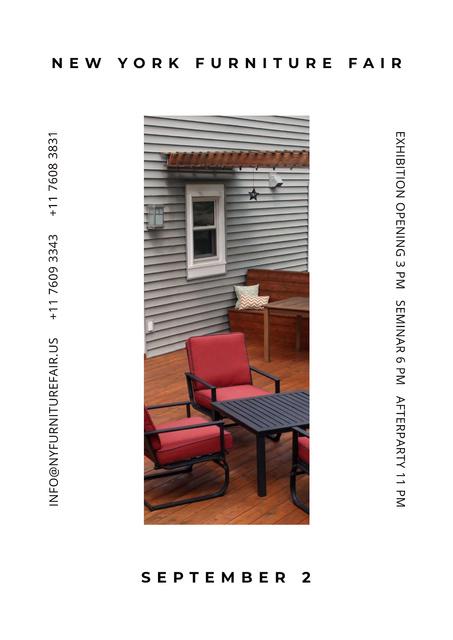 Furniture Fair Announcement Posterデザインテンプレート