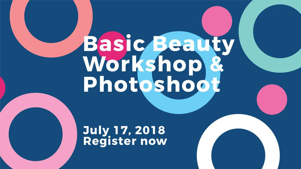 Beauty workshop invitation on Colorful circles pattern — Create a Design