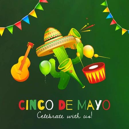 Cynco de Mayo Mexican Celebration Animated Post Design Template