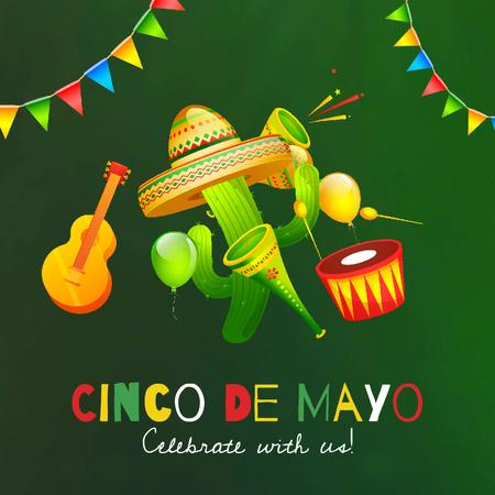 Ontwerpsjabloon van Animated Post van Cynco de Mayo Mexican Celebration