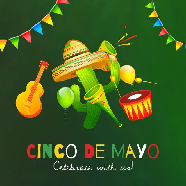 Modèle de visuel Cynco de Mayo Mexican Celebration - Animated Post