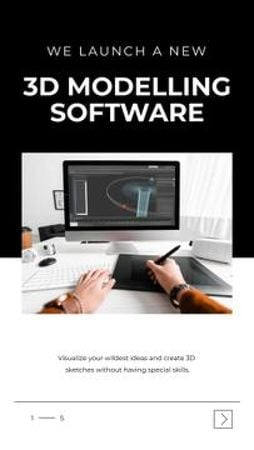 3D Modeling Software promotion Mobile Presentation Modelo de Design