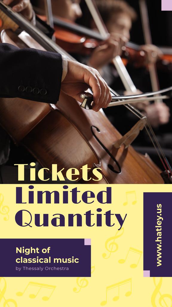 Classical Music Concert Cellist Playing — Maak een ontwerp