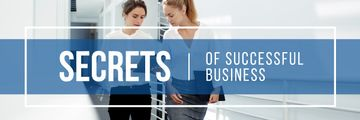 Secrets of successful business poster