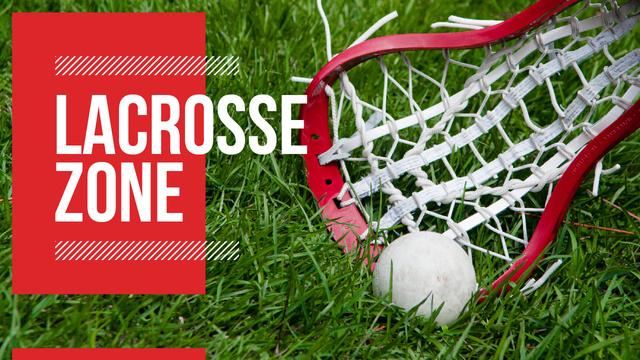 Lacrosse Match Announcement Ball on Field Youtube Thumbnail Modelo de Design