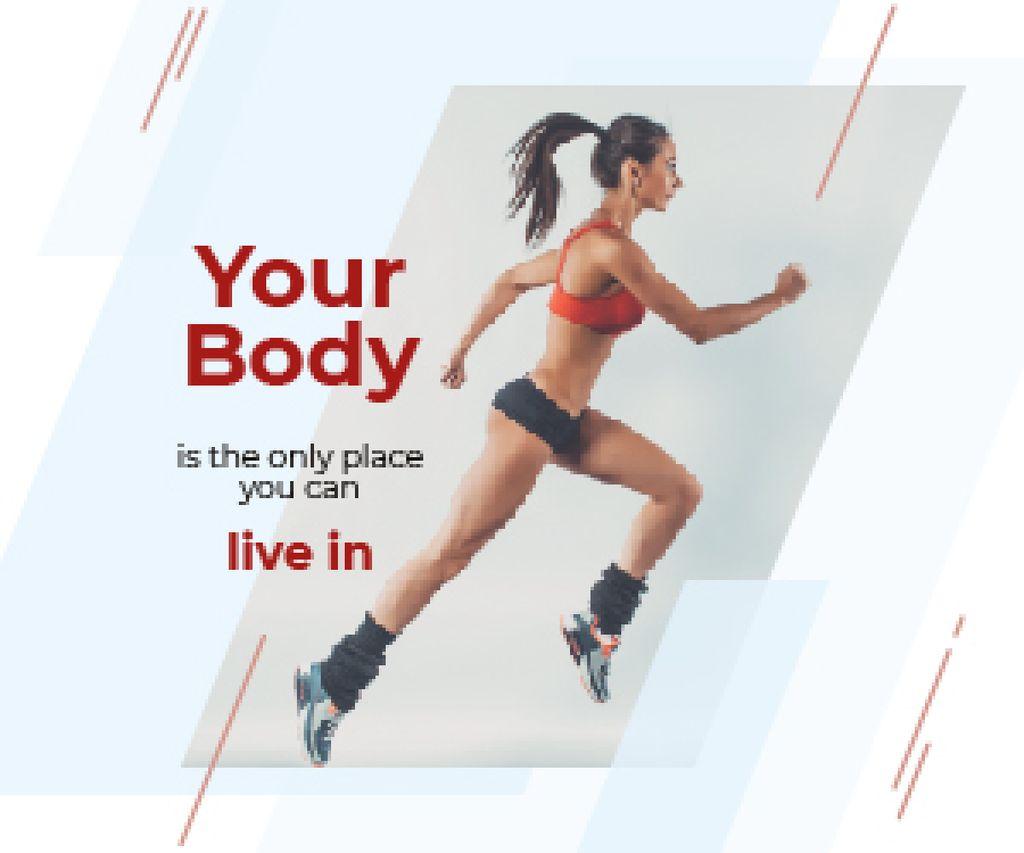 Motivational Quote Sportive Young Woman — Maak een ontwerp