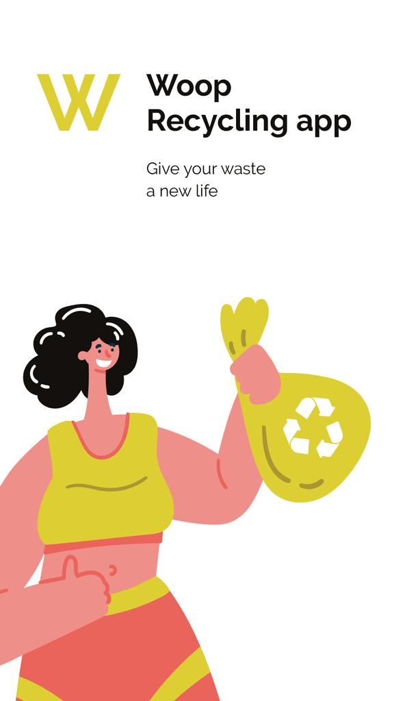 Recycling app promotion Mobile Presentation Modelo de Design