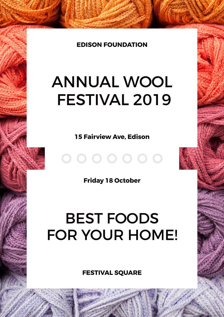 Annual wool Festival — Create a Design