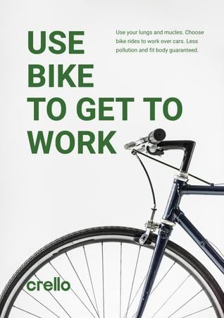 Ontwerpsjabloon van Poster van Ecological Bike to Work Concept
