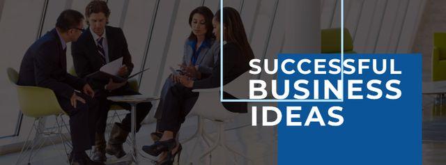 Szablon projektu Business people during meeting Facebook cover