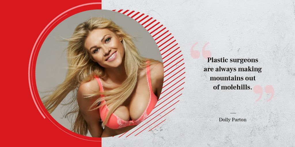 Woman with big breasts Image Design Template