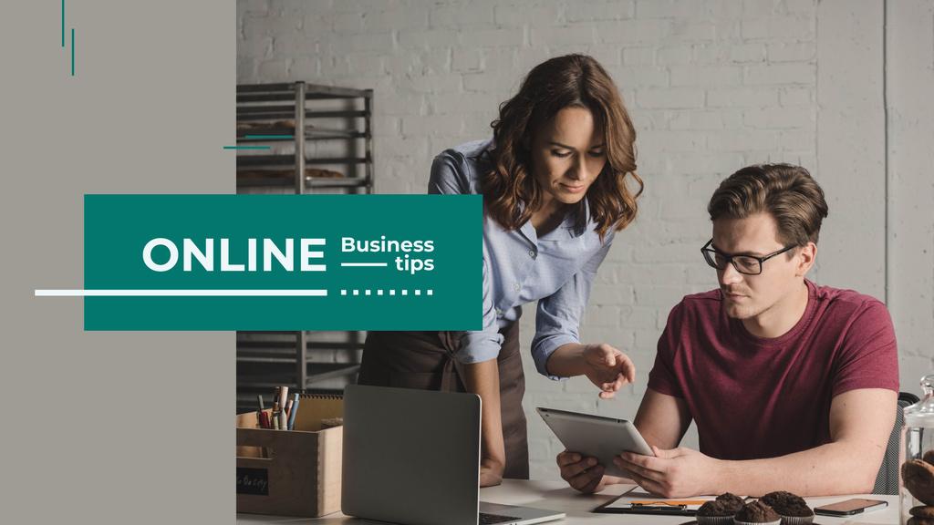 Business Trips Booking Service Colleagues in Office — Modelo de projeto