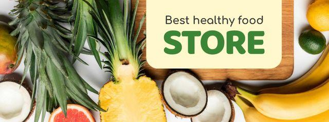Modèle de visuel Food Store Offer Fresh Tropical Fruits - Facebook cover