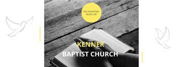 Baptist Church with Hands of Prayer
