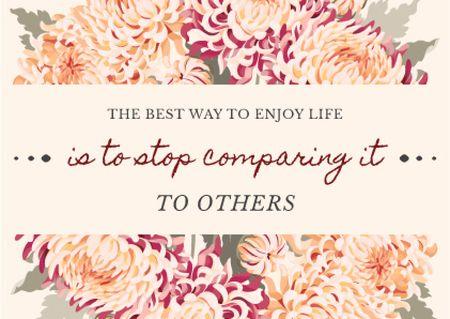 Motivational quote with flowers wreath Card Modelo de Design