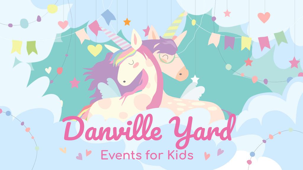 Kids Entertainment Magical Embracing Unicorns — Создать дизайн