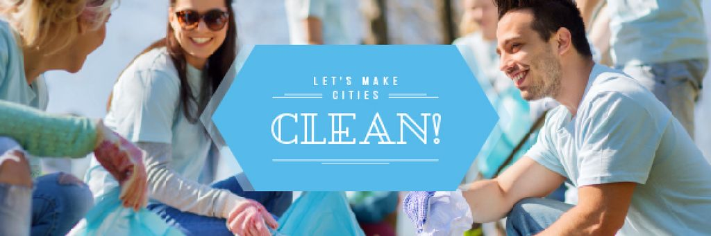 Ecological Event Volunteers Collecting Garbage | Email Header Template — ein Design erstellen