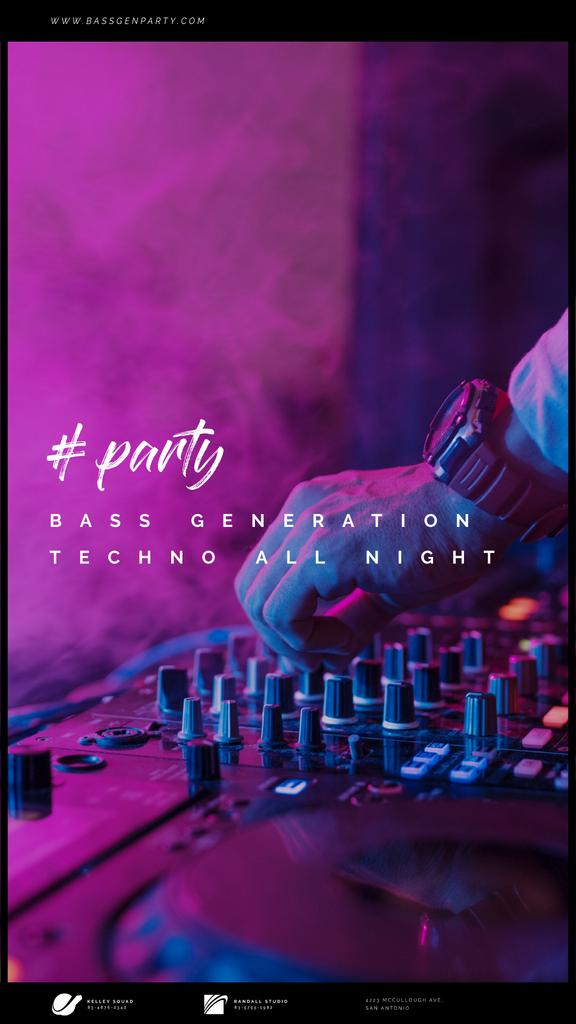 Party Invitation with DJ by Mixer | Vertical Video Template — Modelo de projeto