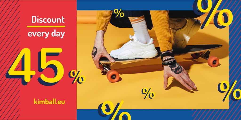 Man riding skateboard — Создать дизайн