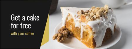 Designvorlage Bakery Ad with Sweet Pie für Facebook cover