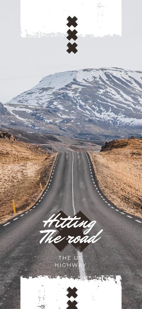 Empty road in nature landscape — Crear un diseño