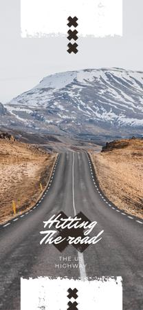 Empty road in nature landscape Snapchat Geofilter Modelo de Design