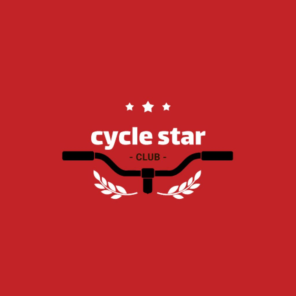Cycling Club with Bicycle Wheel in Red —デザインを作成する