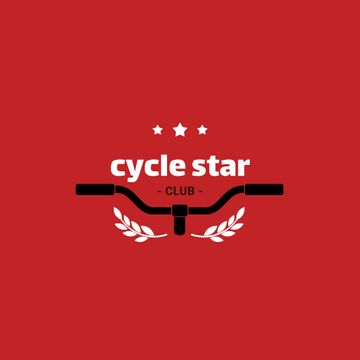 Cycling Club with Bicycle Wheel in Red