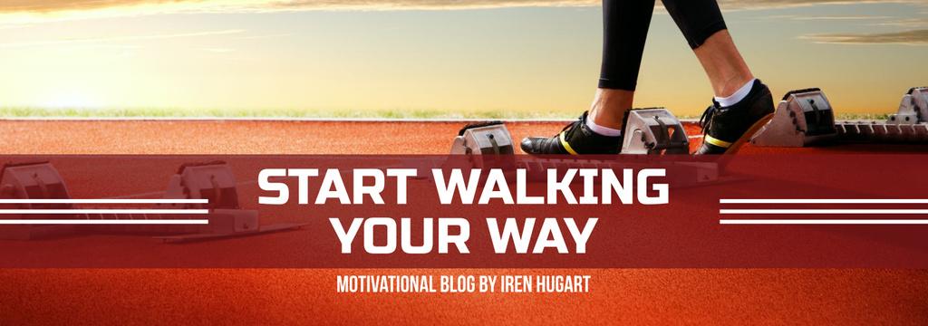 Sports Motivation Quote Runner at Stadium Tumblr Design Template