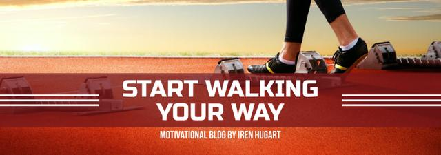 Sports Motivation Quote Runner at Stadium Tumblr Modelo de Design