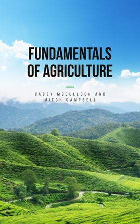 Plantilla de diseño de Agriculture Guide Green Valley Landscape Book Cover