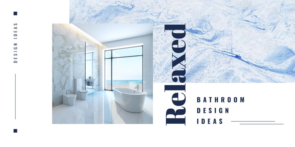 Modern bathroom interior — Modelo de projeto