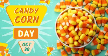 Sweet Candy Corn Day Offer Facebook AD Design Template