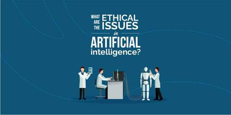 Ethical issues in artificial intelligence illustration Twitter – шаблон для дизайна